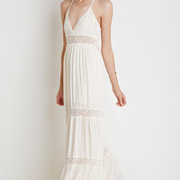 Crocheted Halter Maxi Dress