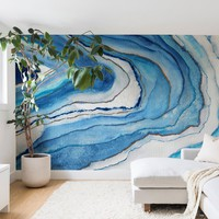 Agate Inspired Watercolor Abstract 02 Wall Mural Viviana Gonzalez