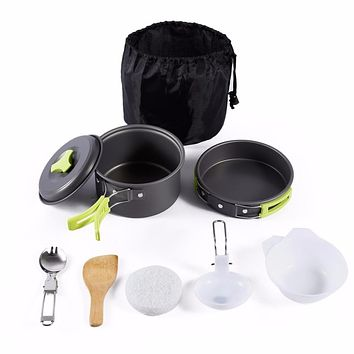 8PCS Portable Outdoor Cookware Set