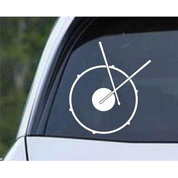 Snare Drums Percussion Die Cut Vinyl Decal Sticker