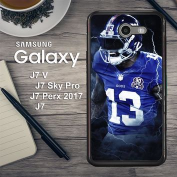 Odell Beckham Jr New York Giants X5642 Samsung Galaxy J7 V , J7 Sky Pro, J7 Perx 2017 SM J727 Case