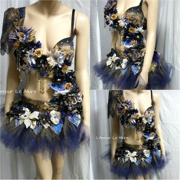 Midnight Dream Flower Fairy Monokini Tutu Dance Costume