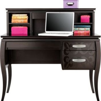 Belle Noir Cherry Student Desk & Hutch :: Rooms To Go Kids - Desks