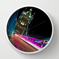 Funky Tower Bridge London Wall Clock by Karl Wilson Photography