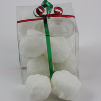 Glistening Snowball Candle Tarts, Highly Scented in Jack Frost, Peppermint Scented, 8 oz Package in Christmas Ribbon