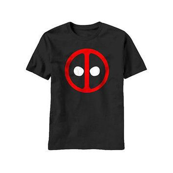 Deadpool Icon Face Mask Logo Marvel Comics Licensed Adult Unisex T-Shirts
