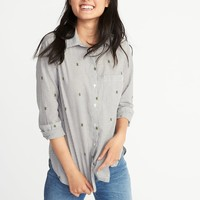 Relaxed Classic Shirt for Women |old-navy