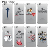 Soft TPU silicone Phone cover Grey's Anatomy Case For iPhone X 8 8Plus 6 6s Plus SE 5s 7 7Plus Back Cover Fundas Coque