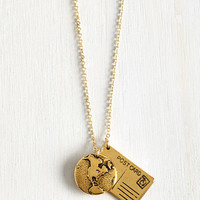 Travel A Blast From the Post Necklace by ModCloth