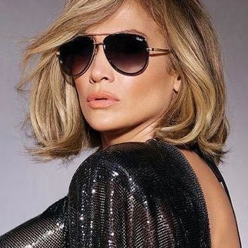 Quay Australia x JLO - All In Sunglasses - Black Smoke