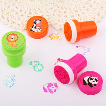 12Pcs Cute Animal Rubber Stamps For Scrapbooking Self Inking Rubber Stamp Set for Kids Scrapbooking Gifs Toys for kid