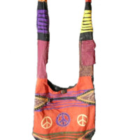 Nepal Bag with peace sign