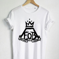 FOB Fall Out Boy Skull Logo Tour 2015 White - Unisex Size T Shirt S - XL #FX3