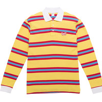 GOLF CURSIVE LONG SLEEVE STRIPED POLO