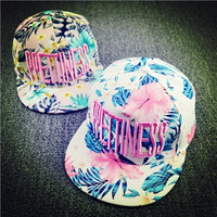 2015 New Hot  Sale  Hats Letter Embroidery Flowers Sweet  Hats For  Women  Hip Pop Hats Fashion Baseball Cap  Snapback