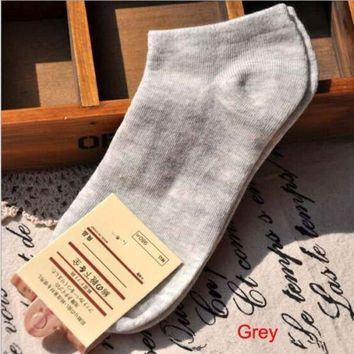 1 Pair Winter Women Socks,Casual Cute Cotton Sock,Candy Color Fashion Ankle Boat