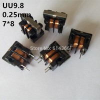 5PCS UU9.8 10mH 7*8mm Common Mode Choke Inductor For Filter