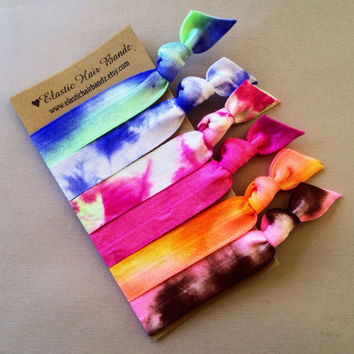 The Ziggy Tie Dye Hair Tie Ponytail Holder Collection