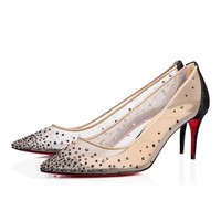 Christian Louboutin Cl Follies Strass Version Black Glitter 14w Special Occasion 1170199cm47 - Best Online Sale
