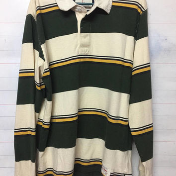 harvard t collar shirt long sleeve cotton vintage design hip hop jumper