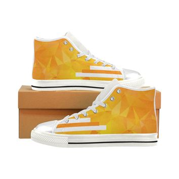 Women's Orange Aquila High Top Canvas Shoes