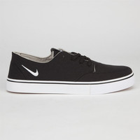 Nike Sb Braata Canvas Mens Shoes Black/White  In Sizes