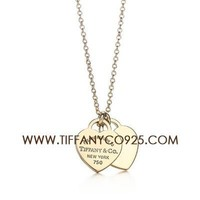 Shopping Cheap Return to Tiffany Mini Double Heart Tag Pendant Necklace At Tiffanyco925.com - Discount Tiffany Necklaces