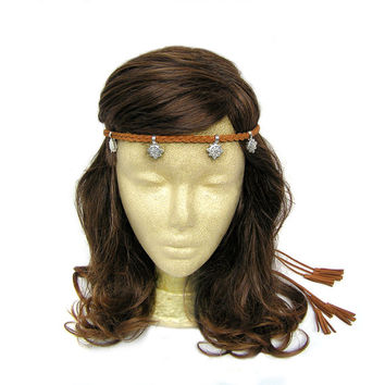 Braided Hippie Boho Headband Festival Coachella Tribal Teen Women Headpiece Bohemian Hair Accessories Headdress Tibet Jewelry