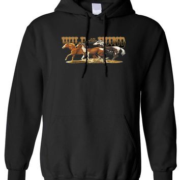Unisex Wild As The Wind Horses Pullover Hoodie