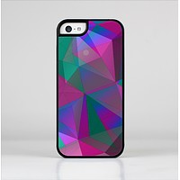 The Raised Colorful Geometric Pattern V6 Skin-Sert for the Apple iPhone 5c Skin-Sert Case