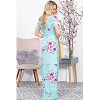 Sweet Spring Floral Maxi Dress