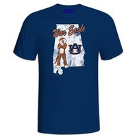 Auburn Tigers War Eagle Vintage State T Shirt