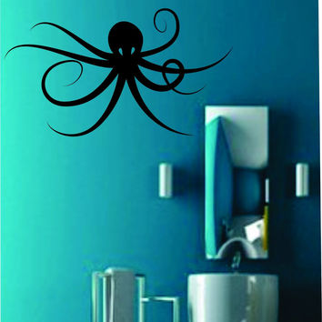 Octopus Decal Sticker Wall Ocean Kid Boy Girl Water Nursery Teen Version 103