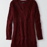 AEO Women's Cable Knit Sweater Dress