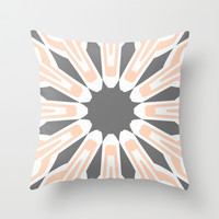Peach Diamonds Throw Pillow by Abstracts by Josrick