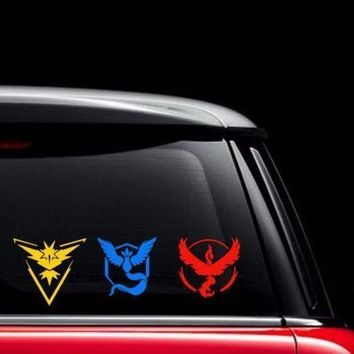 Pokemon Go Vinyl Team Decal