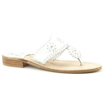 Palm Beach Navajo Sandal in White by Jack Rogers
