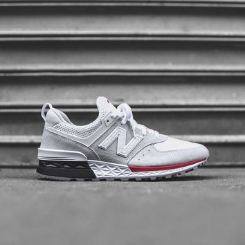 new balance 574 sport white red