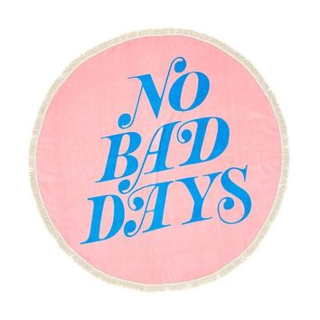 Ban.do x All Around Giant Circle Towel (No Bad Days)