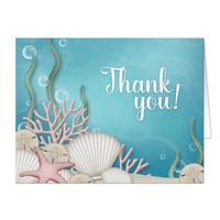 Whimsical Under the Sea Thank You Cards