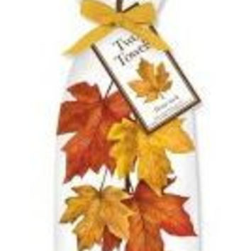 Maple Summer Set of 2 Cotton Tea Towels