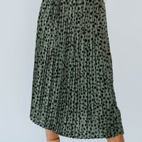 Jude Leopard Pleated Skirt