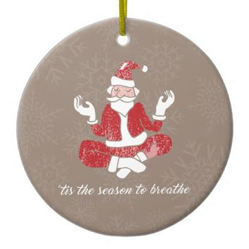 Just Breathe Circle Ornament