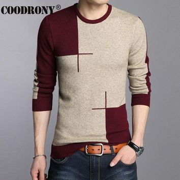 Men Thick Warm O-Neck Wool Sweater / Knitted Cashmere Pullover