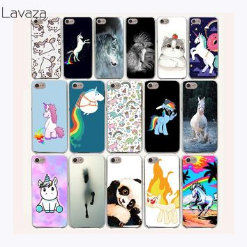Lavaza 49af Horse Unicorn On Rainbow Hard Case for iPhone 7 7 Plus 6 6S 8 8 Plus X 10 5 5S SE 5C 4S