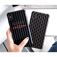 GUCCI tide brand luggage pattern iphone xs max mobile phone case