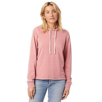 Alternative Apparel - Day Off Burnout French Terry Rose Bloom Hoodie