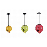 Rural art candy colorful glass balloon dinning room pendant lamp light