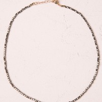 GREY BEAD CHOKER