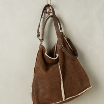 Abro Shearling Stripe Hobo Bag in Brown Size: One Size Bags
